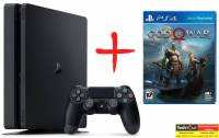 Игровые приставки PlayStation 4 Pro SONY PlayStation 4 Slim 1Tb + игра God of War IV
